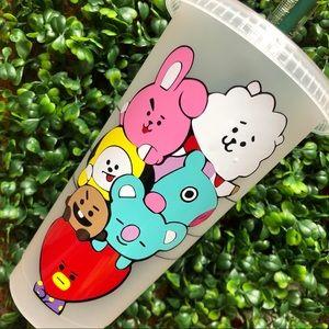 BTS Starbucks reusable cold cup custom